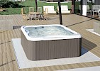 LODGE M mini bazen 200x185x90cm, samostojeci, base, silverwood