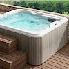 LODGE L mini bazen 223x211x90cm, samostojeci, hydro+blower,platinum,silwerwood